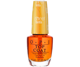 OPI Sheer Tints Top Coat - I'm Never Amberrassed
