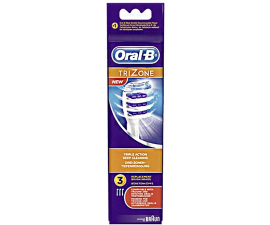 Oral-B Trizone Brush Heads - 3 Pcs