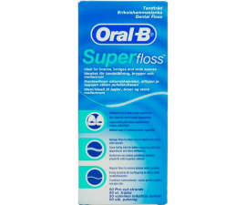 Oral-B Superfloss Dental Floss - 50 pcs