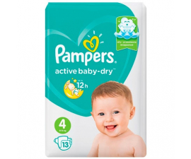 Pampers Active Baby Dry Bleer Str. 4 (9-14kg) - 13 PCS