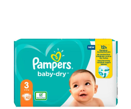 Pampers Baby-Dry Bleer Str. 3 (6-10 Kg) - 42 PCS