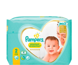 Pampers Premium Protection Str. 2 (4-8 Kg) - 32 PCS