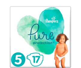 Pampers Pure Protection Nappies size 5 (11+kg) - 17 pieces