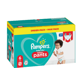 Pampers Baby-dry Nappy Pants Size 6 - 72 pcs