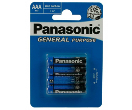 Panasonic R03 4 x AAA Batteries