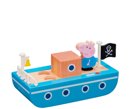 Peppa Pig Wooden Boat with Figure