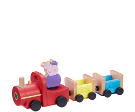 Peppa Pig Wooden Train with Grandpa Pig