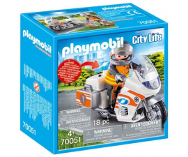 Playmobil City Life Rescue Motorcycle - 70051