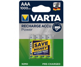 Varta Recharge Power AAA 1000 mAh Batteries - 4 pack