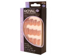 Royal Artificial Nails In the Buff - 24 pcs