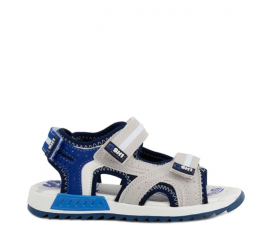 Shone Sandals - Gray & Blue