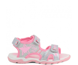 Shone Sandals - Pink & Silver