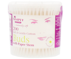 Simply Cotton Soft & Gentle Buds - 200 PCS