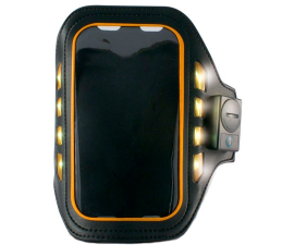 "KSIX Sports Wristband med LED 4"" Sort Neopren"