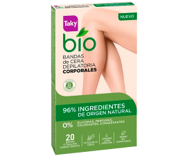Taky Bio Natural Body Wax Strips - 20 pcs