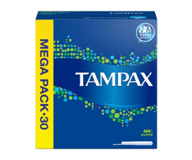 Tampax Super Tampons - 30 pieces