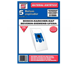Tecnhogar Bosch/Karcher/Severin/Ufesa Vacuum Cleaner Bags - 5 pieces