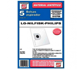 Tecnhogar LG/Nilfisk/Philips Vacuum Cleaner bags - 5 pieces