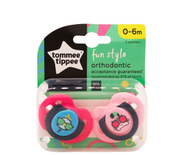 Tommee Tippee Fun Style 0-6 Mdr Sut - 2 PCS