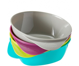 Tommee Tippee Eating Bowl Blue/Purple - 4 items