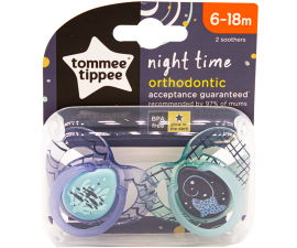 Tommee Tippee Night Time Dummy 6-18 months - 2 pcs