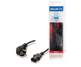 Valueline Power Cable Schuko. Angled - 2 Meter