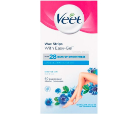 Veet Sensitive Easy-Gelwax Wax Strips - 40 PCS