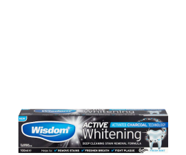 Wisdom Active Whitening Charcoal Toothpaste - 100 ml
